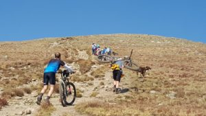 Mountain bikes on Elbert