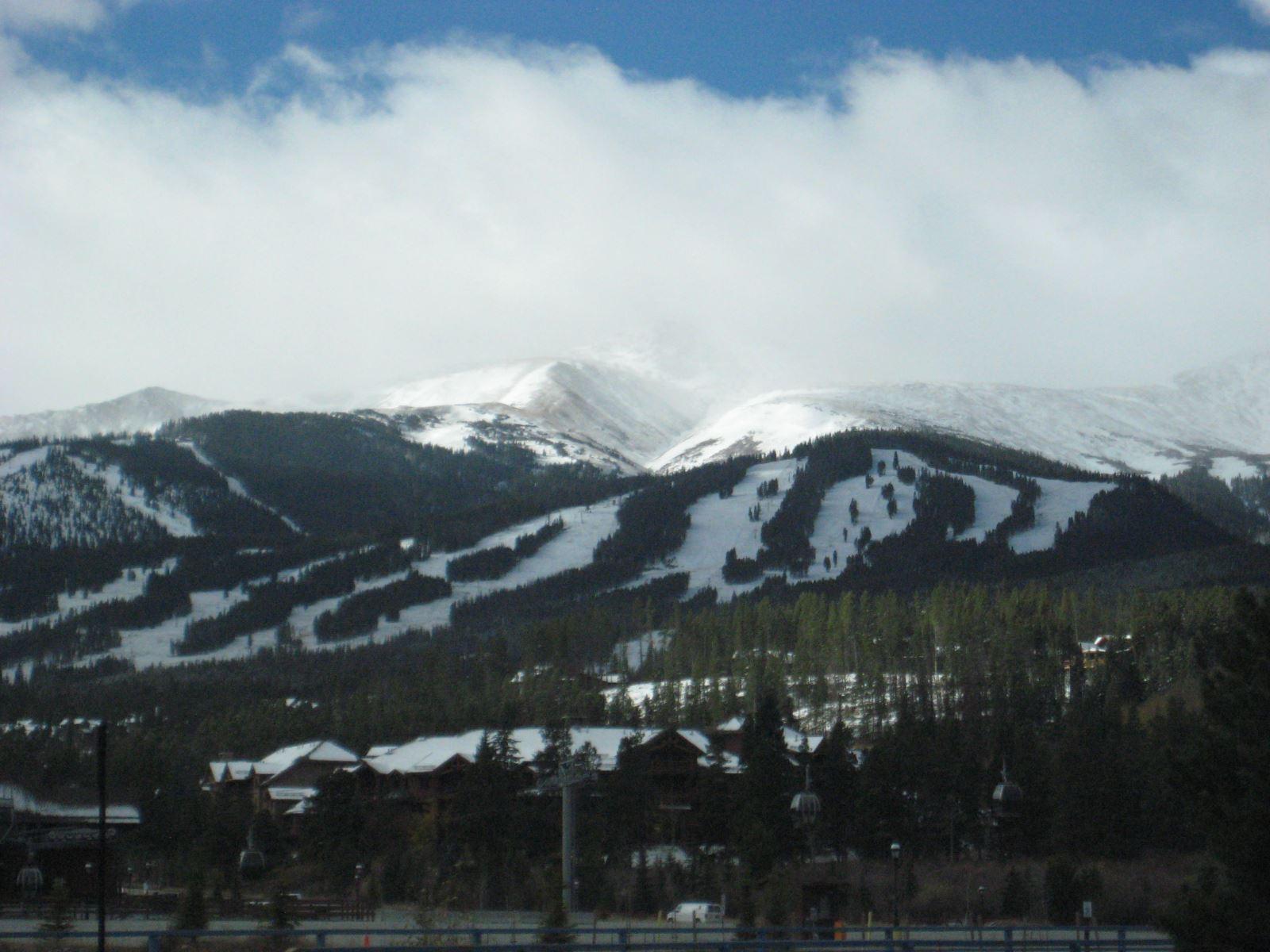 The slopes of Breckenridge