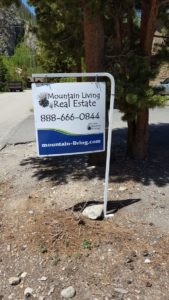 Mountain Living Real Estate Sign