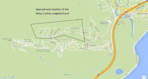 Mesa Cortina Map