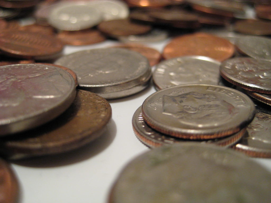 A pile of change for closing costs