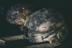 Military helmet symbolizing VA loans