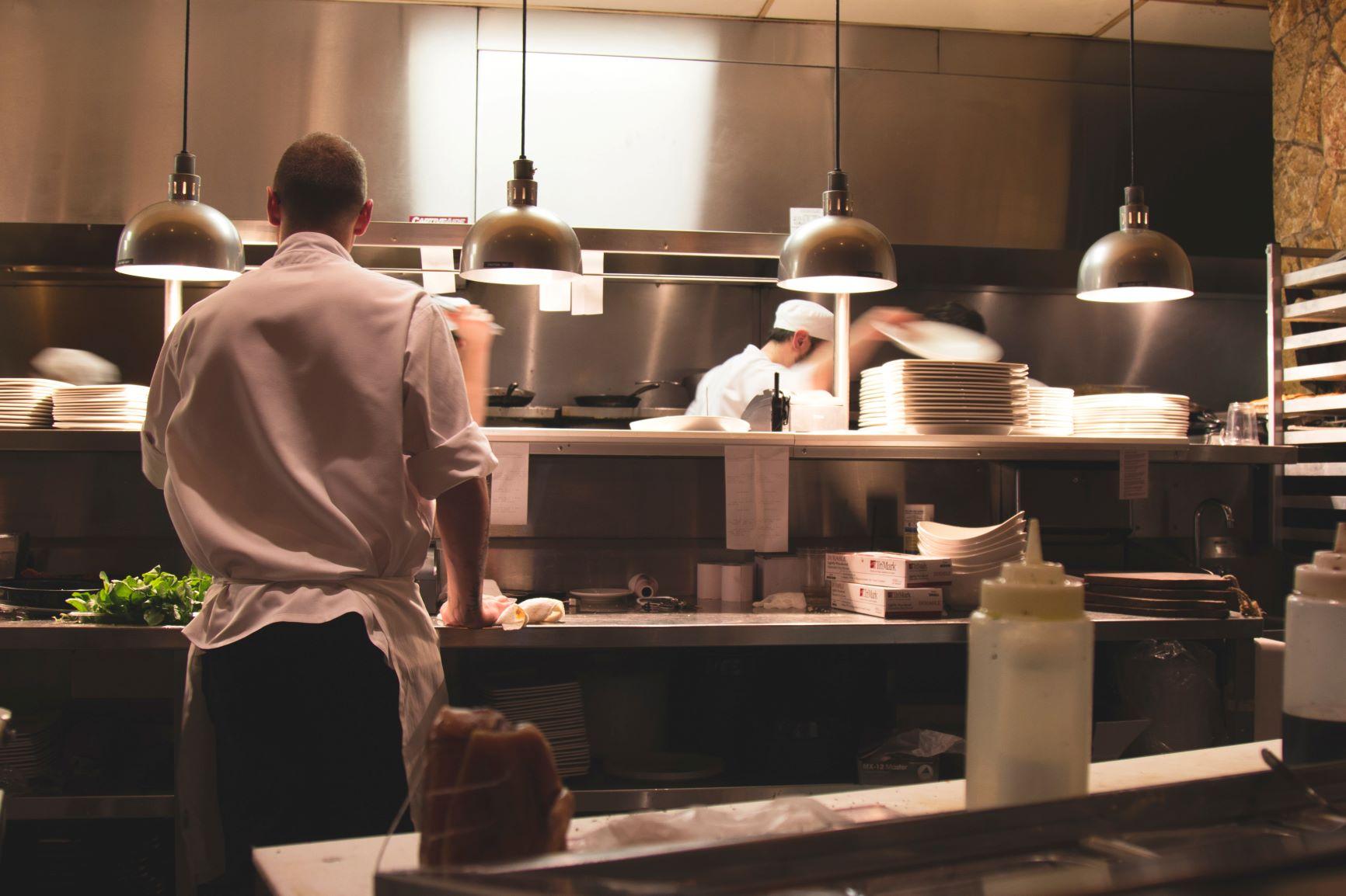 Restaurant behind the scenes